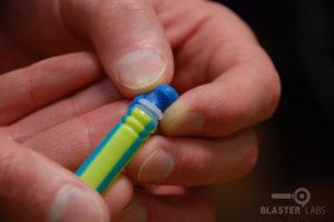 BOOMco Dart Tip Being Taken Off