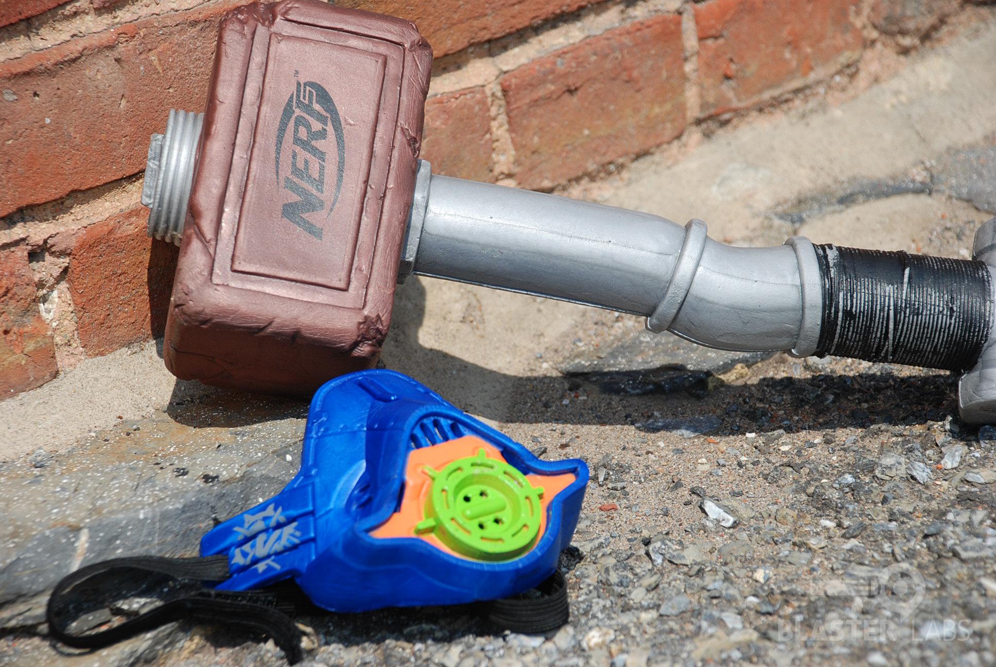 Nerf Zombie Strike Hammer Combat Kit 23 Blaster Hub