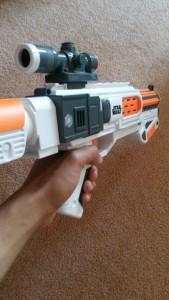 FPS shot of the Deluxe Blaster.