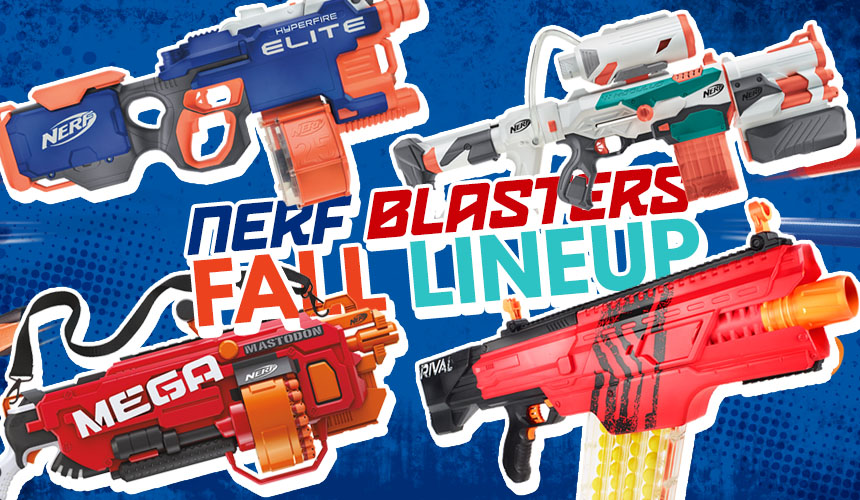 Nerf 2016 Fall Lineup | Rival Khaos MXVI-4000 | Mega Mastodon | N-Strike Modulus Tri-Strike | N-Strike Elite Hyper-Fire
