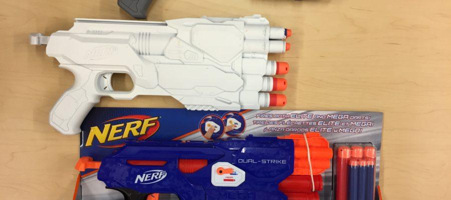 Nerf Dual-Strike Prototypes