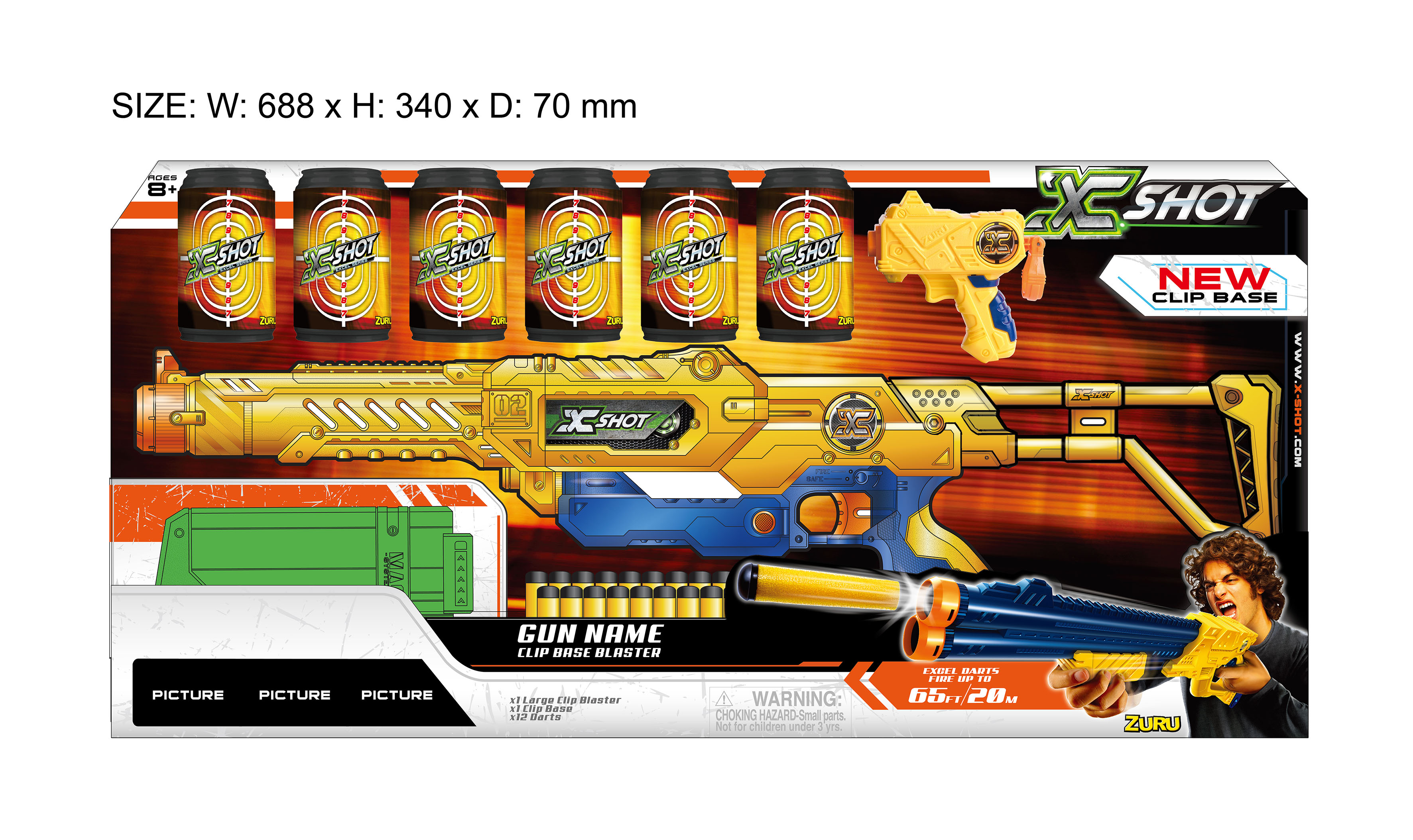 XSHOT Excel Clip Series Max Attack Rifle like Nerf
