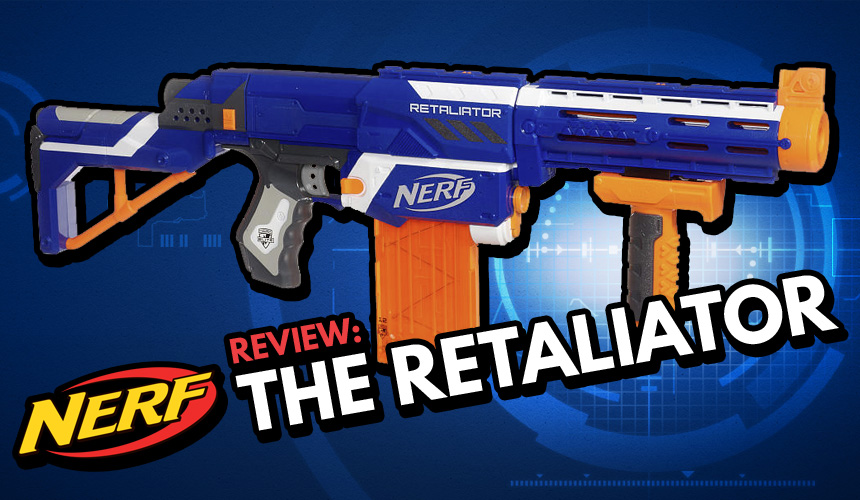 Worker MOD Prophecy-R Model Power Type DIY for Nerf Retaliator Blue  Transparent