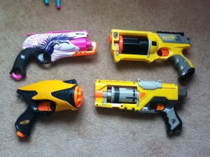 Sweet Revenge next to some other blasters.