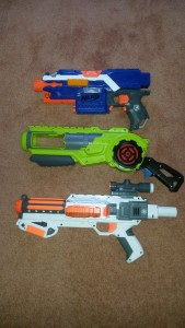 Breakflip next to a Stryfe and Stormtrooper Deluxe Blaster.
