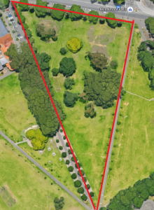 Google Maps image of the play area.