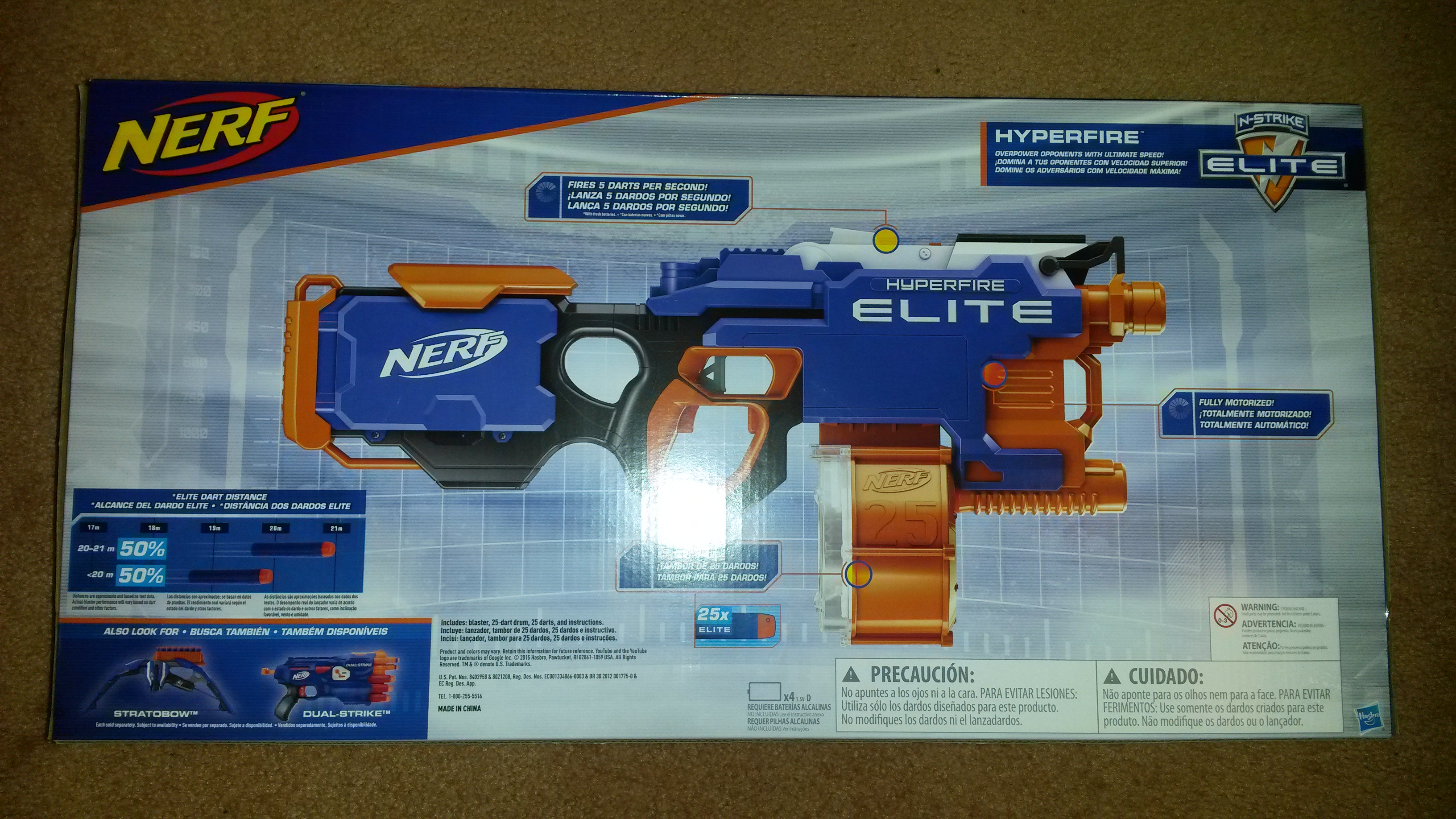 Toy: Nerf's Zeus MXV-1200 Blaster, pictured, can shoot balls around 70