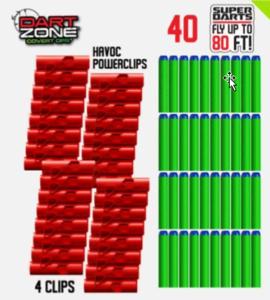 Dart Zone Powerclips