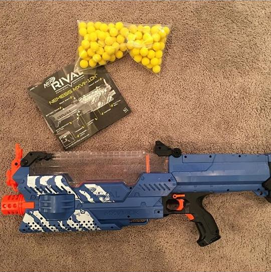 Nerf Rival Nemesis MXVII-10K is our first runner's up because with 100  high-impact rounds, you will be ready to eliminate the competitors without  reloading.