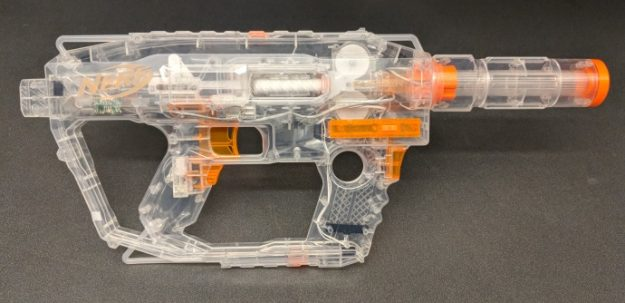 Zombie survivors are prepared for anything with the NERF ZOMBIE STRIKE  SURVIVAL SYSTEM SCRAVENGER blaster! This essential zombie defense ...